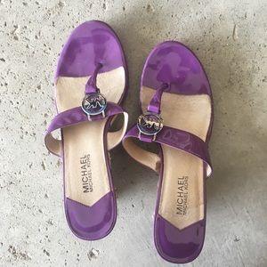 Michael Kors Purple Sandles